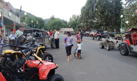 During the 2013 Meeker OHV Rendezvous, several of the OHV riders gathered in downtown Meeker for a variety of activities staged on their behalf. The group will be highly visible again today through Sunday as they attend the third annual event.