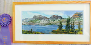 This watercolor painting of Trappers Lake captured Best of Show at the Plein Air Art Competition, which culminated Friday after two weeks of painting time. The painting was done by Susan Theile of Montrose, second place was won by Pat Sheeren Daggett of Meeker and third place went to Mary Pat Ettinger of Craig.