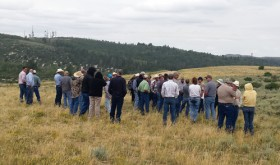 The White River and Douglas Creek conservation districts hosted a Natural Resource Tour in the Piceance Basin on Aug. 13 with 45 participants which included elected officials, agency staff, college instructors, and other interested members of the public.