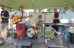 Entertainment was provided by Hotter 'N Grits out of Winter Park on Saturday during the 50th Years of Wilderness celebration on the courthouse lawn in Meeker. The ERBM Parks and Recreation District sponsored the group, which had a couple hundred people enjoying the late afternoon sunshine.