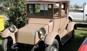 The Striegel family of Rangely just purchased this 1930 Detroit Electric car from Wyoming. They are planning a total restoration of the 84-year old car, which is made of steel.