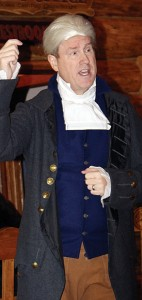 Hal Bidlack appeared as Alexander Hamilton to kick off the annual CNCC retreat Sept. 6 and 7.