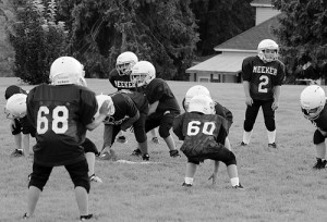 The Meeker Mustang football season is under way, teams have been practicing and games are scheduled this Sunday for both the third/fourth grade team as well as the fifth/sixth grade team. The Mustangs will play six games and the older team will be eligible for postseason play following the Oct. 19 game. The league consists of teams from Rifle, New Castle, Parachute, Glenwood Springs, Silt and Meeker.