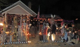 This the 34th year that Donna and Bill Wille have continued to expand their Halloween display at their taxidermy business, located at 369 Market St. in Meeker. The display utilizes at least 500 lights and is turned on around the clock daily.