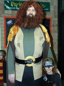 Hagrid (Rangely True Value owner Rodger Polley) welcomed Muggles and wizards alike into Hogwarts on Friday night. The event drew approximately 300 people and raised $4,400.