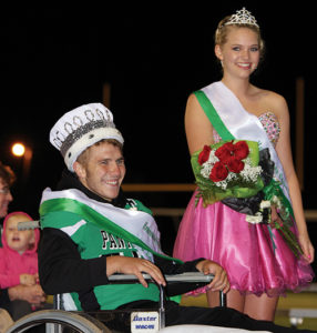 "Crowned king and queen  of the 2014 Rangely High School Homecoming royalty were King Ethan Allred, left, and Queen Simone Heinle, right. A wide variety of activities were held all week long, culminating with the Homecoming dance on Saturday. The parade theme this year was ""Electric Avenue."""