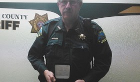 Rio Blanco County Sheriff Si Woodruff received the Purple Heart from the Rio Blanco County Sheriff's Office on Saturday in recognition of the on-duty stab wound to the abdomen he sustained Aug. 21 in an incident at Pioneers Medical Center in Meeker.