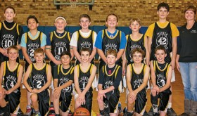 Members of the successful Barone Middle School seventh grade boys' basketball team are Phil Arnold, Charles Curry, Elijah Deming, Josh Dinwiddie, Brennan Ibach, Alex Llamas-Lopez, Nick Massey, Juan Oliva, Todd Patterson, Tanner Ridgeway, Cole Rogers, Jake Shelton, Colton Wille and Ridge Williams.