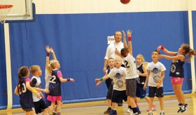 Twenty-two elementary school children from Rangely help make up three teams to compete in the Uintah Recreation District's basketball league this fall. Coach Kyle Wren said that understanding the game and the importance of teamwork early on will benefit kids' athletic futures and life skills.