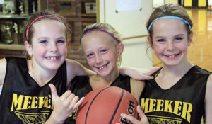 Ten teams entered the fifth annual Charity for Hoops, 3 on 3 basketball tournament, sponsored by the ERBM Recreation and Parks District and played at Meeker High School on the last day of Christmas vacation. Named Team Attack, twins Vivian and Wagner Brown, along with Emma Luce, won the young girls' division.