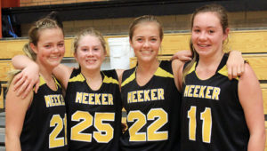 Twins Krissie and Kassie Luce, along with Megan Shelton and Kenzie Turner won the 7th-8th-grade division.