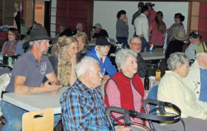 """A good turnout was part of the fun Saturday night at the Hugus Building in downtown Meeker as the Clover Loafers and building owner Mary K. Krueger, who is a member of the band, hosted a free Valentine's Day dance. Krueger said she came up with the idea as """"there aren't a whole lot of things to do on a Saturday night in Meeker during the winter and I thought this might make for a nice change."""" The dance Saturday is not likely to be the last one this winter, she said."""
