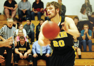 Meeker's Cade Rowlett gets set up for two of the 20 points he scored over the weekend in the last two regular season games for the Cowboys. Meeker topped Colbran 55-36 on Friday and Hotchkiss by 62-44 on Saturday, ending the regular season with an 18-1 record. With the wins, Meeker takes the No. 1 seed into the district tournament this weekend, where they will play their first game on Friday against Soroco at 7:30 p.m. in Cedaredge.