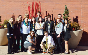 On Monday, the Rangely FBLA chapter competed at districts at Colorado Mesa University and of the 15 students who competed, 11 qualified for state. Dawn Stephens was first and James Scoggins finished second in client services. Daniel Connor placed fourth in help desk, Breanne Baker was second in public speaking, Rebecca Gillard was second in spreadsheet applications and Sierra Brannan was second in electronic career portfolio. Marielle Ivie was third in desktop publishing, Marshal Way was third in digital design and promotion, McKenzie Webber was second and Sarah Connor was fifth in FBLA principles and procedures, Tiffany Record was second in health care administration, Zack Glasgow was first and Savannah Neilsen was second in word processing. Third place and above qualified for state.