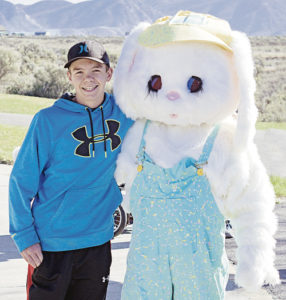 Meeker's Justin George found the Easter bunny.