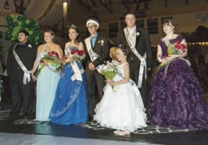 Members of the 2015 Rangely High School Prom royalty court. From left to right are court members Manuel Ramirez, Sierra Brannan, Stephanie Tuck, Marshal Way, Layne Mecham and Michelle Gohr.