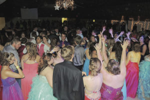 It was mostly a full dance floor when the Meeker High School juniors, seniors and their dates were dancing at the MHS Junior/Senior Prom at the Freeman E. Fairfield Center on Saturday. D.J. music entertained the students until 1 p.m., when many of those who took part moved over to the after-prom party at the Meeker Recreation Center.