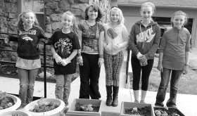 courtesy photo The Meeker 4-H Sewing Club participated in a Community Pride Project last week at the Pioneers Hospital Home Health and HopeWest offices. The members cleaned up flower beds, pulled weeds and planted flowers. Members include, from left to right, Brooke Archuleta, Haley Weston, Tacy Crawford, Nevaeh LeBlanc, Kolbi Franklin and Hadley Franklin. Members not pictured are Allie Sanders and Aimee Shults. Sewing leader is Cortney Aldridge.