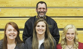 Three Meeker High School girls's basketball players—Sydney Hughes, Reese Pertile, Megan Parker—and their coach, Greg Chintala, were recently honored by the Western Slope League and state coaches associations. Senior Sydney Hughes was named the Player of the Year for the Western Slope League and was also selected to play in two all-state games, the Colorado Coaches of Girls Sports game played two weeks ago and the Colorado High School Coaches Association's all-state game to be played in June. Coach Chintala was chosen to coach the team. Hughes led the team in scoring, assists, steals and was second in rebounding to Pertile, who, along with Parker, was honorably mentioned by the Western Slope League.