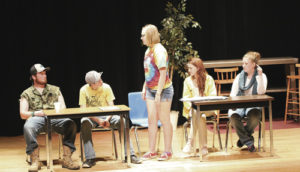 "The Rangely High School drama class performed the play ""How to Kill a Mockingbird"" on April 28 in a twist on the classic ""To Kill a Mockingbird."" Five less-than-stellar students meet to work on their group English project. Their assigned reading is Harper Lee's ""To Kill a Mockingbird."" Unfortunately, not one of the five has actually read the book. In fact, nobody even brought a copy of the book along. Worst of all, they're not exactly sure what the title of the book even is and there is no Internet service. Thus begins a hilarious series of guesses and assumptions tht culminate in a massive conspiracy theory about the book and the true threat of mockingbirds."