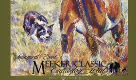 Meeker artist John Kobald designed this poster for the inaugural Meeker Classic Cattledog Trial coming up on Sunday, June 7. Kobald has donated the original pastel artwork to the Meeker Classic Cattledog Trial and asked that it be given to one of the event sponsors. A drawing for the winner will be held during the June 7 trial.  The poster will be available for sale locally at Wendll's.