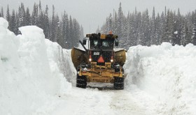 Demonstrating the job that lay ahead, this Rio Blanco County snow plow shows what lies in front of it while trying to clear County Road 8 up over Ripple Creek Pass all the way over into Routt County on Wednesday. As of noon on May 20, the Rio Blanco County road crew had less than four miles to go to clear a narrow route the entire length of the closure. The crew was also battling a major blizzard on top of the pass, but were able to finish the initial path and open the road. The road will require a four-wheel-drive vehicle and a lot of caution as there is a lot of snow, melt-off and mud, making the travel treacherous for possibly a couple weeks, the county Road and Bridge Department advised on Friday.