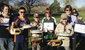On April 28, three members of Rangely Cub Scout Pack 191 were presented with the Arrow of Light award, the highest award given out in Cub Scouts. The three Rangely winners were Corbin Lucero, Wyatt Zufelt and Keihlin Myers.