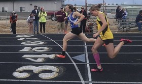 In the last weekend of the season for the Barone Middle School track team, Gracie Bradfield of Meeker and Quinn Pint of Craig competed in the 200-yard dash.