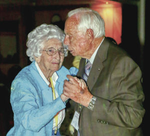 For many years now, the distinction of being the senior members in attendance at the Oldtimers' Dinner and Dance has gone to Ethel Starbuck and Joe Sullivan. This year saw Starbuck, left, who is 97 and Sullivan, only 94, shaking a leg on the dance floor again.