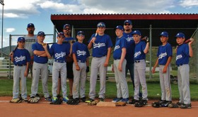 The Meeker Dodgers won the Colorado River Valley Little League tournament in Rifle, with a 17-0 win over the Tigers from Craig in the championship game. Coaches in back row Jeff Musgrave, Mike Wille and John Patterson. Players include: Kyle Wangnild, Brady Potetz, Colton Wille, Tanner Ridgeway, Todd Patterson, Ryan Phelan, Nick Massey, Cole Rogers and Braydon Garcia.