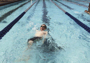Colton Noel was one of the Rangely swimmers who took part in a swimming meet in Rangely during the weekend. Several members of the team did well, coach Torie Slagle said, and Noel was able to knock 49 seconds off his best times in the events.