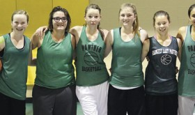 The Rangely Panthers girls' basketball squads recently hosted an invitational summer tournament with teams from Hayden, Meeker, Soroco and Baggs, Wyo. All the teams did well, and the picture is from the Rangely B Squad after a win over Soroco. From left to right are: Cassidee Brown, Alexis Wiley, Raelynn Norman, Alanna Wiley, Skylar Thacker and Kaylalle Wyman-Forunato.