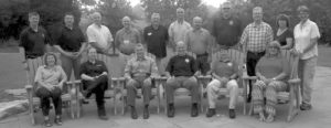 Members who attended the National Park Service Law Enforcement Training in West Virginia were: back row, left to right: Mark Cutler (NPS LETC), Tony Luongo (Temple University), Bill Overby (Skagit CC), Don Coleman (Southwestern CC), Rick Mossman (Colorado Northwestern Community College), Mitch Boudrot (Southwestern CC), Mark Maciha (Northern Arizona University), Brian Marvin (Santa Rosa JC), Jim Christensen (Vermillion CC), Pam Bell (Southwestern CC), Jill Hawk (NPS LETC). Seated: Left to right are: Dr. Vicki McGarvey (Temple University), Rebecca Roarty (Colorado Northwestern Community College), Charles Cuvelier (WASO-LESES), Curtis Dowdle (Southwestern CC), Chris Willard (Temple University) and Liz Dodson (NPS LETC).