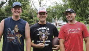Last year there were just four entries in the Rangely Fourth of July Rib Cookoff, but this year the number jumped to nine grill chefs. First place and the title of Rib King went to Ryan Huitt, who earned $300 for his efforts. He defeated Shelby Hays, who took home second place and $200 while Ryan Kennedy was third and $100 richer.