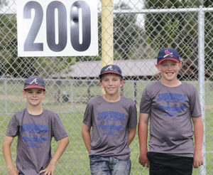 From left to right are Kevin Wren, Keihlin Myers and Dylan LeBleu of Rangely, who were selected to play in the Little League All-Star Tournament in Grand Junction. They all played for the Colorado River Valley Little League organization. Wren, son of Kyle and J'lyn Wren, pitched, played center field and catcher. Myers, son of Ken and Jenine Myers, played first base, shortstop, third base, pitcher, catcher and outfield. In their last game, he pitched a one-hitter through the fourth inning. Myers and Wren played for the 9-10 year-old team. LeBleu, son of Jerry and Danielle LeBleu, competed on the 11-12 year-old team, having pitched and played third base. That team made the semi finals, finishing third. Being selected is a major honor and commitment for the boys, who all had a great year and are looking toward next season.