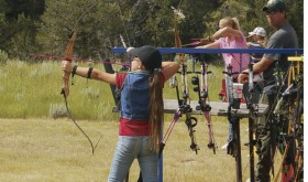 The Rio Blanco County Shootout took place at the Meeker Shooting Range south of town on Saturday, and competition was held in .22-caliber rifle, shotgun and archery, and members of the county team fared very well.