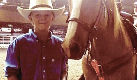 Lane Anderson, pictured with his horse, Cactus, won a Wyoming state title in breakaway roping in May, qualifying him for the National Junior High Rodeo Finals in Iowa, which he participated in last week.
