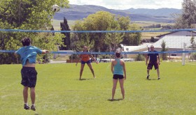 Members of the Meeker High School volleyball team held a 2-on-2 grass volleyball tournament on Saturday, then served lunch at Meeker Golf Course for the Meeker Couples Golf Tournament. The girls did both as fundraiser events.