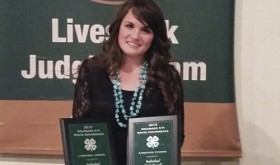 Shults earns sixth term on Colorado all state 4-H livestock judging team