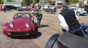 Several dozen vintage cars, old race cars and collectible cars took part in the 2014 Colorado Grand rally in Meeker. The same group will return this year, on Sept. 17, when the Meeker Lions Club will feed them lunch on the courthouse lawn.