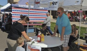 The Meeker Arts and Cultural Council had only one of the many booths on hand for the festival, which is put on to help non-profit groups in Meeker raise money.