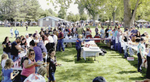 Roughly 950 Rangely residents and visitors took part in and enjoyed the annual Rangely Elks Club barbecue early Monday afternoon at Rangely's Elks Park, the central location for activities that wrapped up four days of Septemberfest. Besides the hugely successful barbecue, Elks Park played host to a large arts and crafts fair that lined the park except for the northwest portion, which played home to the annual car show that featured several dozen vehicles on display to the public. Well in excess of 1,000 people were in attendance at Elks Park on Monday for all the activities being held.