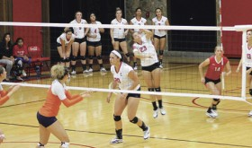 The Lady Spartans of Colorado Northwestern Community College played Snow College last week in a close, physical contest, but they came up on the losing end in the match. The Spartans invited fans down on the floor for a short volleyball clinic after play concluded.