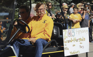 Mary and Mike Washburn were the grand marshals of the parade.
