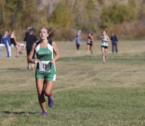 Freshman Phalon Osborne ran a PR at the Moffat County Invitational this past weekend.