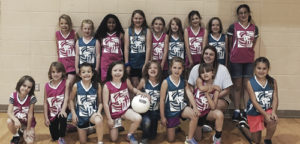 The second- through sixth-grade volleyball season runs for a month at the Western Rio Blanco Recreation and Park District. Participants do two weeks of practice and two weeks of games.  Participants include (back) Sky Pearce, Audy Ryder, Janessa White, Ciara Shepard, Chloe Noel, Elyse Francis, Annika Cantrell, Myriah Henson, Mackenzie Manchester, (front) Wrenalee Moore, Tylee Fielder, Jasmine Preciado, Alivia Green, Miley Francis, Emma Winder, Aspen Steele, Kaitlyn Cox and coach Sierra Brannan.