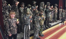 Roughly 30 Meeker-area youths competed in the annual Meeker 2015 Bugling and Camouflage Contest Wednesday night at Meeker Elementary School. Meeker Police Department hosted the competition which was sponsored by White River Electric Association, Meeker General Mercantile and Wyatt's Sports. Brenden Clatterfield was grand champion.