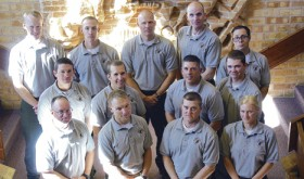 The Colorado Northwestern Community College National Park Ranger Academy held its fall graduation ceremony on Nov. 13. Graduates are, back row from left: Lucas Box, Shane Barton, George Menze, David Engel and Eric Meier; middle row from  left; Kyle Mackay, Daniel Kukura, Jason Apgar and Cory Bennett; and front row from left: Eric Brocaille, William Bartz, Brian Steidle, and Allison Bishop.