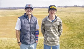 Meeker High School senior Nick Burri, right, is pictured with his soon-to-be college golf coach Jordan Dickson. Burri, who played on Rangely High School's team for three years, has signed to play golf for Missouri Valley College in Marshall, Mo.