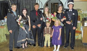The 2016 Meeker High School Prom Royal Court was announced before the beginning of the dancing at the prom, which was held Saturday evening at the Hugus Building to a nearly full house. Members of the royalty, from left in the back row: Attendants Jake Nielsen and Caitlyn Shepherd, Attendants Devon Pontine and Jenna Walsh, and Queen Kadie Hummel and King Nick Burri. In the front row are youth attendants Carson Blunt, left, and Raegan Clatterbaugh.